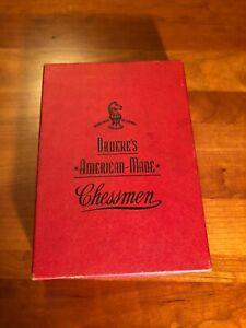 Vintage Drueke's American Made Chessmen No. 23 (Ivory/Black)