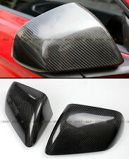 REAL CARBON FIBER SIDE MIRROR COVERS FOR 2015-2016 FORD MUSTANG W/O LED SIGNAL