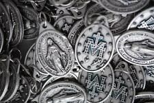 Catholic Italian Miraculous Medal Lot + Bonus Holy Cards - FREE USA SHIPPING