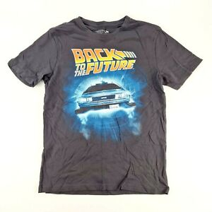 BACK TO THE FUTURE Mens Charcoal Grey Delorean T Shirt Top Size Small