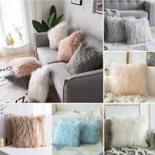 Luxury Soft Faux Fur Throw Pillow Case Square Throw Cushion Cover Home Decor