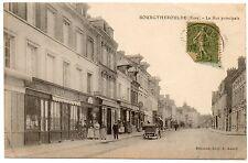 carte postale CPA Bourgtheroulde Eure La rue principale