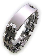 Uhren & Schmuck Herrenschmuck 100% Wahr Armband Kautschuk Edelstahl Kette Mode Schmuck Unisex Luxus Geschenk Schwarz B15