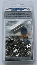 Boat Cover/Canopy Fastener Kit Stainless Steel Canvas to Screw kit & tools 10pcs