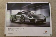 2010 Porsche 918 Spyder Hybrid Concept Poster German BEYOND RARE Out of Print!!