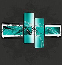 Aqua Abstracto Diseño Cascade Premium calidad de imagen Lona Impresión Gratis Reino Unido Envío