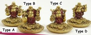 Circular Resin Fat Bellied Buddha Incense Holder - Different Designs (S2)