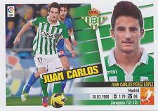 N°13 JUAN CARLOS  PEREZ LOPEZ # ESPANA REAL BETIS STICKER PANINI ESTE LIGA 2014