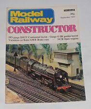 MODEL RAILWAY CONSTRUCTOR SEPTEMBER 1977 - HO GAUGE SNCF CONTINENTAL LAYOUT