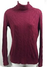 R.E.Q Required to Wear Women's Red Turtleneck  Long Sleeve Sweater Size M