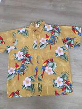 Mens Hawaiian Shirt.Size Large.parrots.Colourful. Excellent.