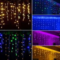Icicle Snowing LED Curtain String Lights Fairy Christmas Wedding Party Outdoor