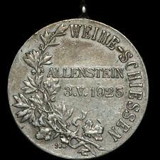 SCHÜTZEN: Medaille 1925. WEIHE-SCHIESSEN ALLENSTEIN / OSTPREUSSEN ⇒ OLSZTYN.