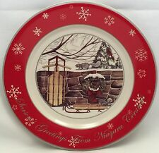 Christmas Season's Greetings Plate Buffalo China Niagara Ceramics 1 of 500 2009