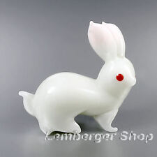 Glass figurine rabbit made of colored glass. Lenght 3,5 cm / 1.4 inch!