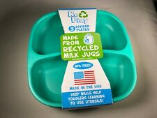 Amazing RePlay Recycled Divided Plates Toddler Kids FDA Approved Set Of 3 NEW