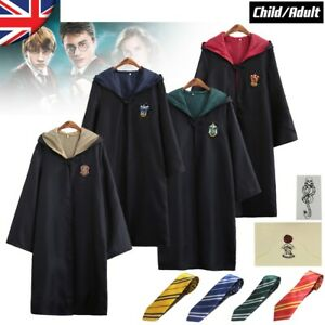 Harry Potter Gryffindor Cape Cloak Tie Cosplay Costume Xmas Hermione Granger COS