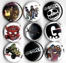 """Gorillaz 8 NEW 1"""" buttons pins badges"""