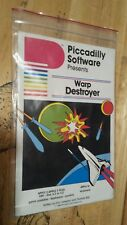 Warp Destroyer by Piccadilly Software for Apple II+,IIe,IIc,IIgs 1982 (w/Baggie)
