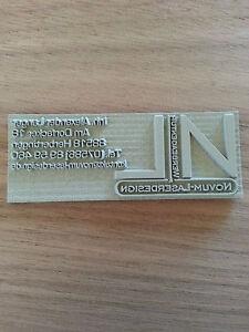 Textplatte Stempelplatte für Trodat Printy 4910 4911 4912 4913 4915 4928