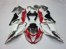 Red w/White Bodywork Fairing Kit For Kawasaki Ninja ZX-6R 2013-2014 ZX 636 ZX6R