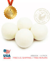 XL 4 Pack EcoJeannie Wool Dryer Balls -100% Virgin New Zealand Wool