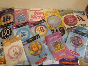 """JOB LOT 40 X FOIL BALLOONS - NEW IN PACK 18"""" BALLOONS + BALLOON BOUQUETS"""