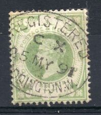 GB = Postmark. QV era, `PADDINGTON W.` CX Code LONDON 1891 Reg. Oval. (05.04.18)