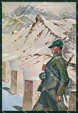 GdF Guardia di Finanza Militari Pisani Boeri FG cartolina KF0233