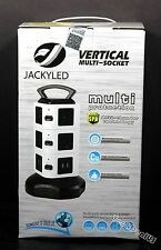 Electric Power Strip JACKYLED 3000W 13A 16AWG 10 Outlet Plugs with 4 USB Slot