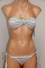 NWT Roxy Swimsuit 2pc Bikini Set Sz L Brazilian String Pants