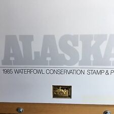 1985-91 (7)  Alaska Duck Stamp prints W/Med and 2 Stamps: One sign and one mint