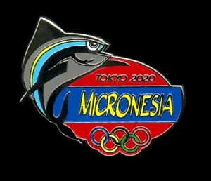 """MICRONESIAs HANDSOME NEW DATED OLYMPIC PIN - """"MAD TUNA"""" - TOKYO 2020!!"""