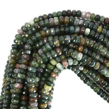 """Faceted Indian Agate Rondelle Beads 15"""" Strand 2x3mm 3x4mm 4x6mm 5x8mm 6x10mm"""