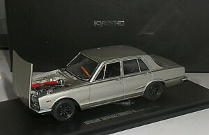 Kyosho 1/43 Nissan Skyline 2000GT-R 4 Doors 1969 PGC10 Silver