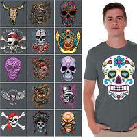 Day of the Dead T-SHIRT sugar skull Halloween Dia De Los Muertos CHARCOAL