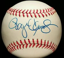 1980s ROGER CLEMENS Single SIGNED Baseball ball rare Auto vtg old RED SOX Team