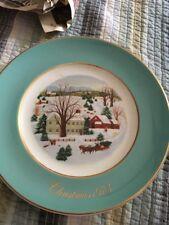 "Avon Christmas 1973 Plate ""Christmas on the Farm"" - Enoch Wedgwood, England"