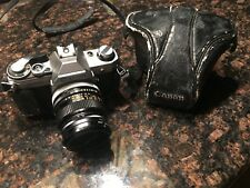 Vintage Canon AE-1 w/ Leather Case, Lens and Filters | Working - Very Good Cond.