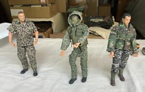 """3 - 21st century 1/6  soldiers , 12"""" Played with Condition"""