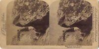 Norvegia Norway Foto Stereo Stereoview di Carta Citrato Vintage