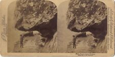 Norvège Norway Photo Stereo Stereoview Papier Citrate Vintage