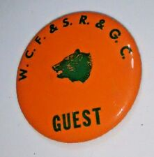 Winchester Centerfire Gun Club Guest Pass Pinback Button Shooting Range  Badge