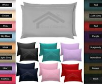 2 x New Pillow Case Luxury Fine Poly cotton Housewife Pair Pillows Cover Cases