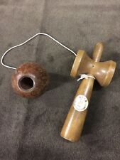 Vintage Wooden Stick Cup & Ball On String Toss Game Children's Memory Of Nara