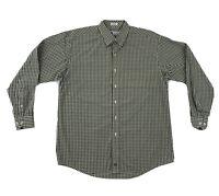 Onward Reserve Check Dress Shirt Mens Large Long Sleeve Button Down