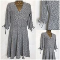 Dorothy Perkins Grey Marl Soft Touch Stretch Wrap Dress Sizes 8 - 20 (dp-27o)