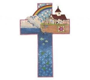 """Jim Shore """"Noah's Ark"""" Cross Wall Decor"""