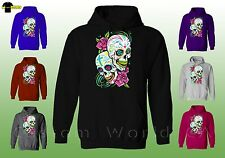 Hoodie Sweatshirt - Colorful Couple Skull Image Design - New Cute Design Clothes