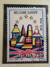 ITALIE ITALIA 1993, timbre 1997, UNITE EUROPE, DRAPEAU UK oblitéré, FLAG